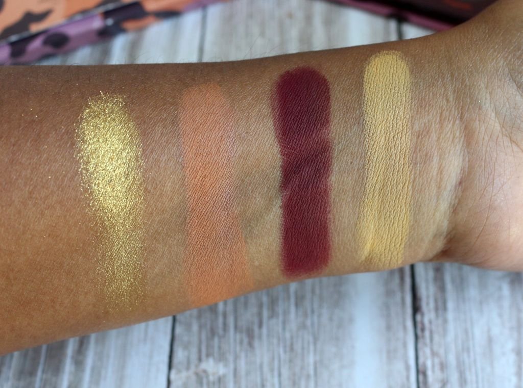 colourpop good sport swatches tan deep